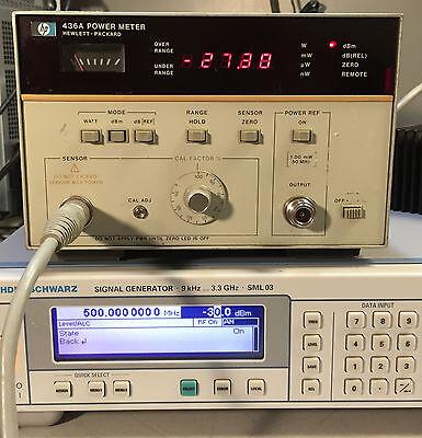 Hp Agilent 436a Single Channel Power Meter Opt 022 Hp-ib
