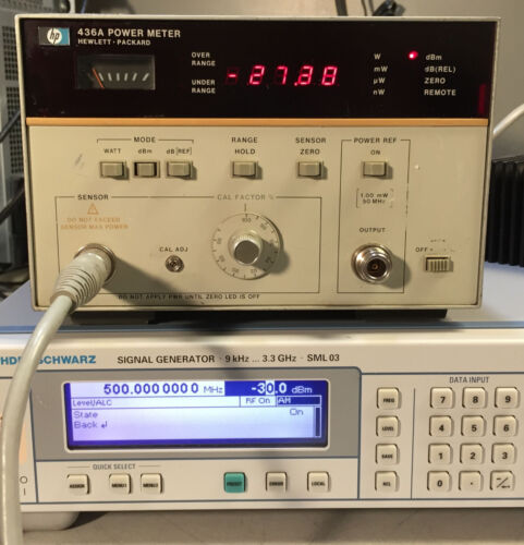 HP Agilent 436A Single Channel Power Meter Opt 022 HP-IB