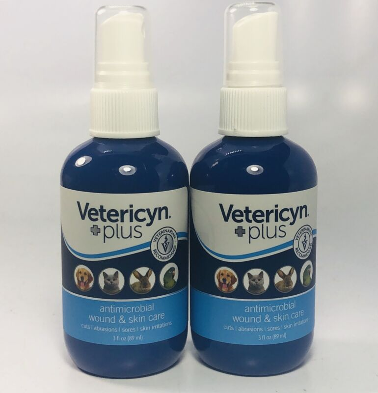 Lot Of 2 Vetericyn Plus Antimicobrial Wound & Skin Care 3 Fl Oz (89 ml)