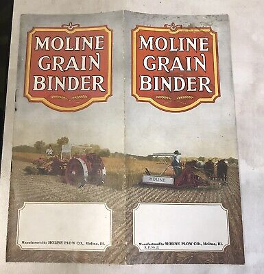 Rare Early Vintage 1900's Moline Plow Co. Grain Binder Pamphlet Illustrated