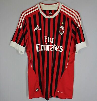 AC MILAN ITALY 2011 2012 HOME SHIRT FOOTBALL SOCCER JERSEY ADIDAS MAGLIA SIZE S image