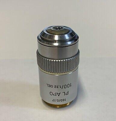Leitz Plan Pl Apo Apochromat 100x1.32 Oil Microscope Objective 160mm