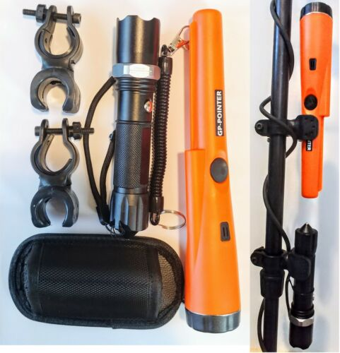 GP-Pointer Pinpointer Metal Detector with Holster, Flashlight, 2 Clips, Lanyard