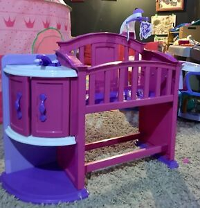 Doll crib and high chair