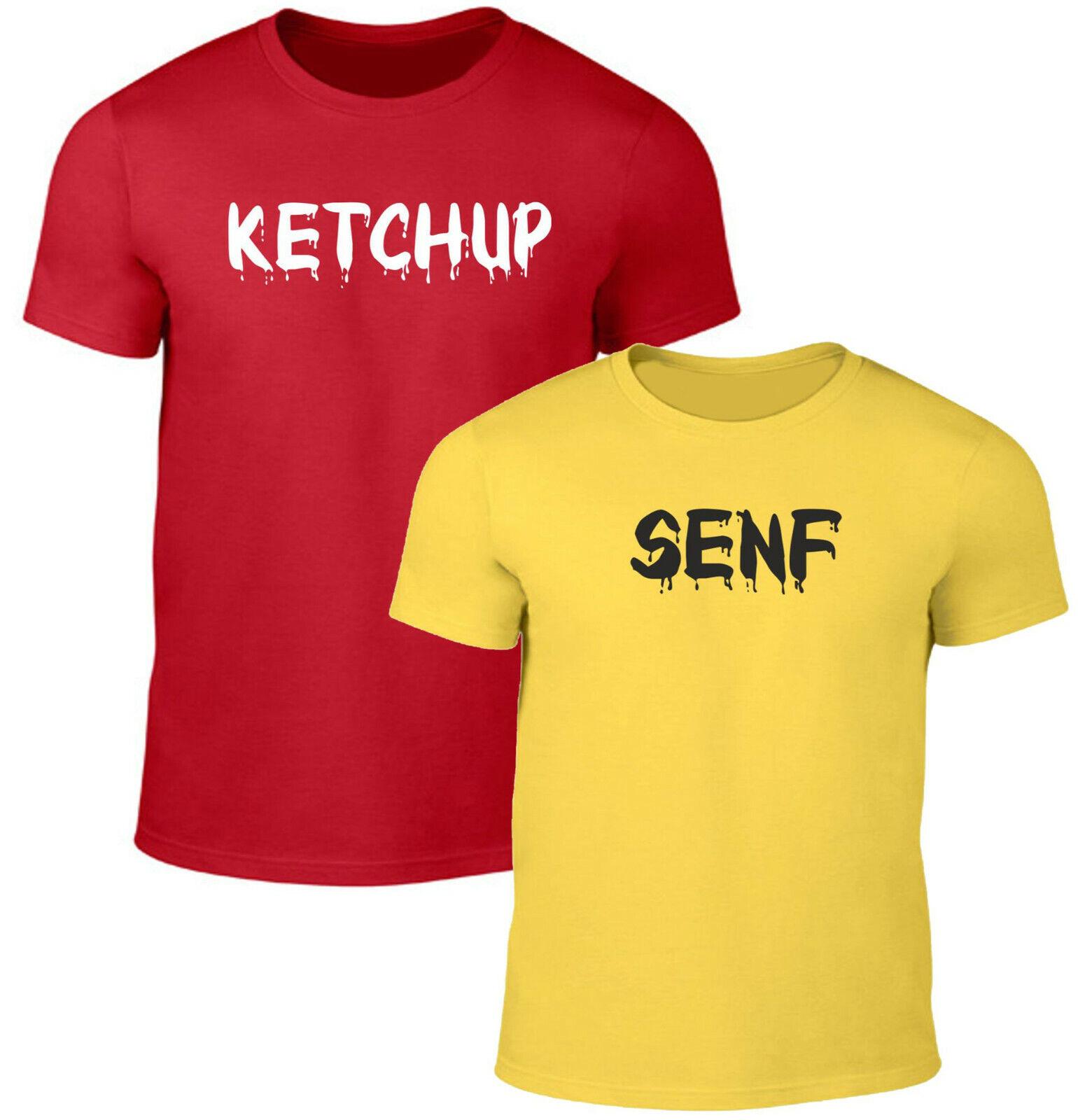 Fun T-Shirt Ketchup & Senf Partner Look Party Spass Kostüm Fasching Karneval