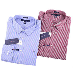 Tommy-Hilfiger-Men-Long-Sleeve-Button-Down-Custom-Fit-Casual-Shirt-0-Ship
