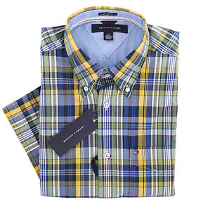 Tommy-Hilfiger-Men-Short-Sleeve-Custom-Fit-Button-Down-Casual-Shirt-0-Ship