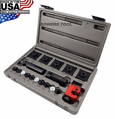 Cal Van Master In Line Double & Bubble Flaring Tool Set w Tube Cutter & USA - Double Flaring Tool Set