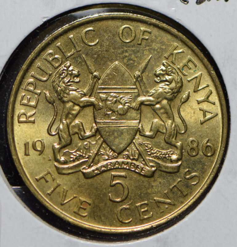 Kenya 1986 5 Cents  901127 combine shipping