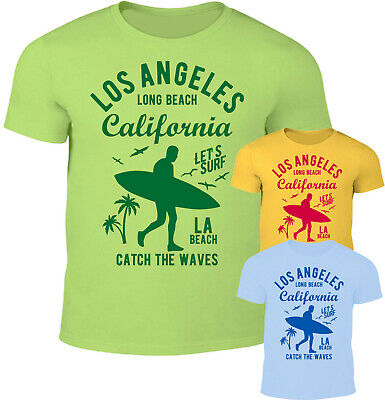 Los Angeles Long Beach Herren T-Shirt California Strand Surf Bar Street Fashion