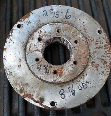 8-38 Od Lathe Chuck Backing Mounting Plate 2-38 - 6 Tpi South Bend