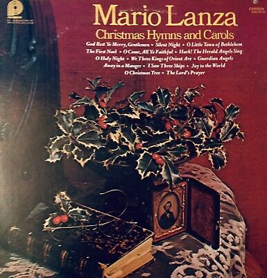 Mario Lanza  Christmas Hymns and Carols  Vinyl   Lp