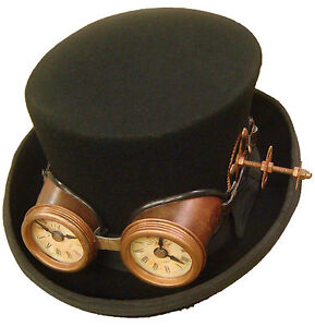 Raven-Gothic-Steampunk-victorian-top-hat-with-antique-style-goggles-with-clock-f