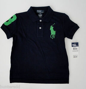 NWT Ralph Lauren Boys Short Sleeved Big Pony Polo Mesh Shirt Sz 8 NEW $45 3e