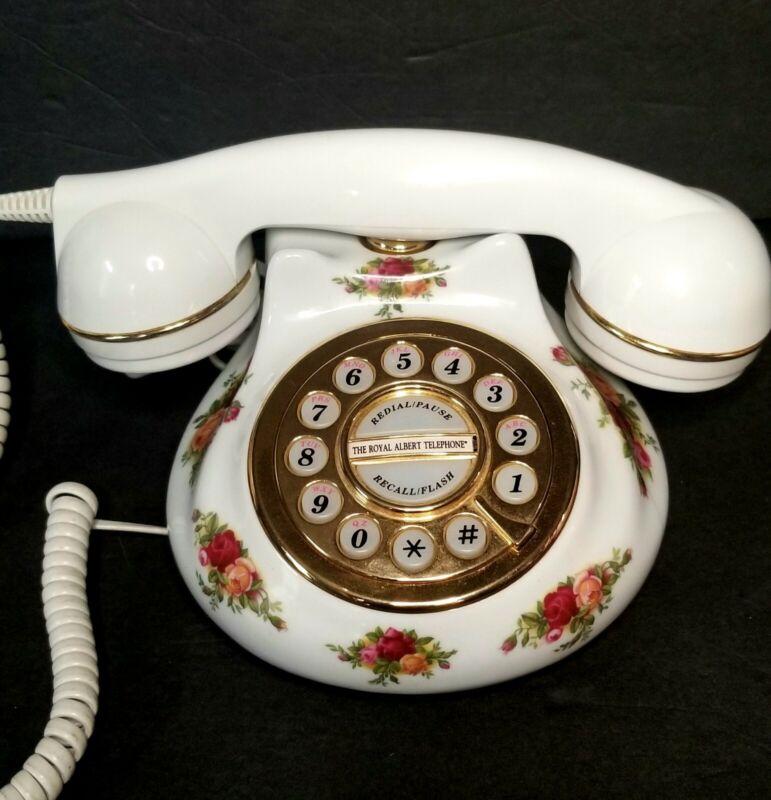 Rare Old Country Roses Royal Albert Telephone! Rare Model!