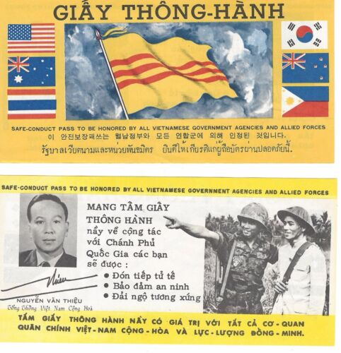 Vietnamese Vintage Giay Thong-Hanh  Safe Conduct Pass in MINT CONDITION