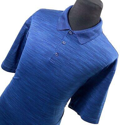 HAGGAR CLOTHING Blue Performance Short Sleeve Casual Golf Polo Shirt Mens 3X