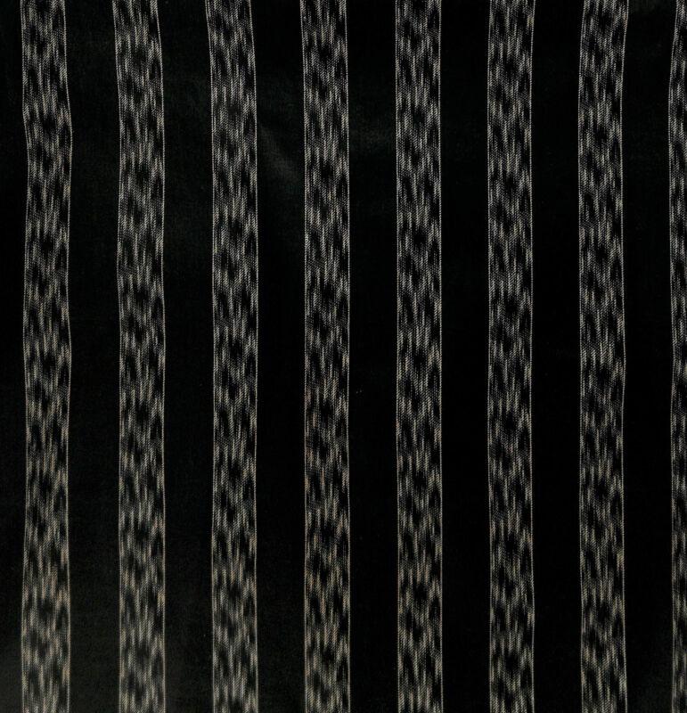 "Antique 1870 ¾"" Black Stripe Polished Cotton Fabric"