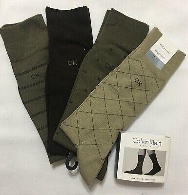 Calvin Klein 4-Pair Combed Cotton Blend Casual-Dress Socks- Neutrals (2184) Calvin Klein Cotton Dress Socks