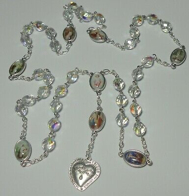 Mother of Pearl Hand Crafted MOP Silver Chain,Heart Shaped Clasp Ooak Blue Lace Agate Necklace