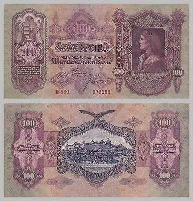 Ungarn / Hungary 100 Pengö 1930 p98 s-ss