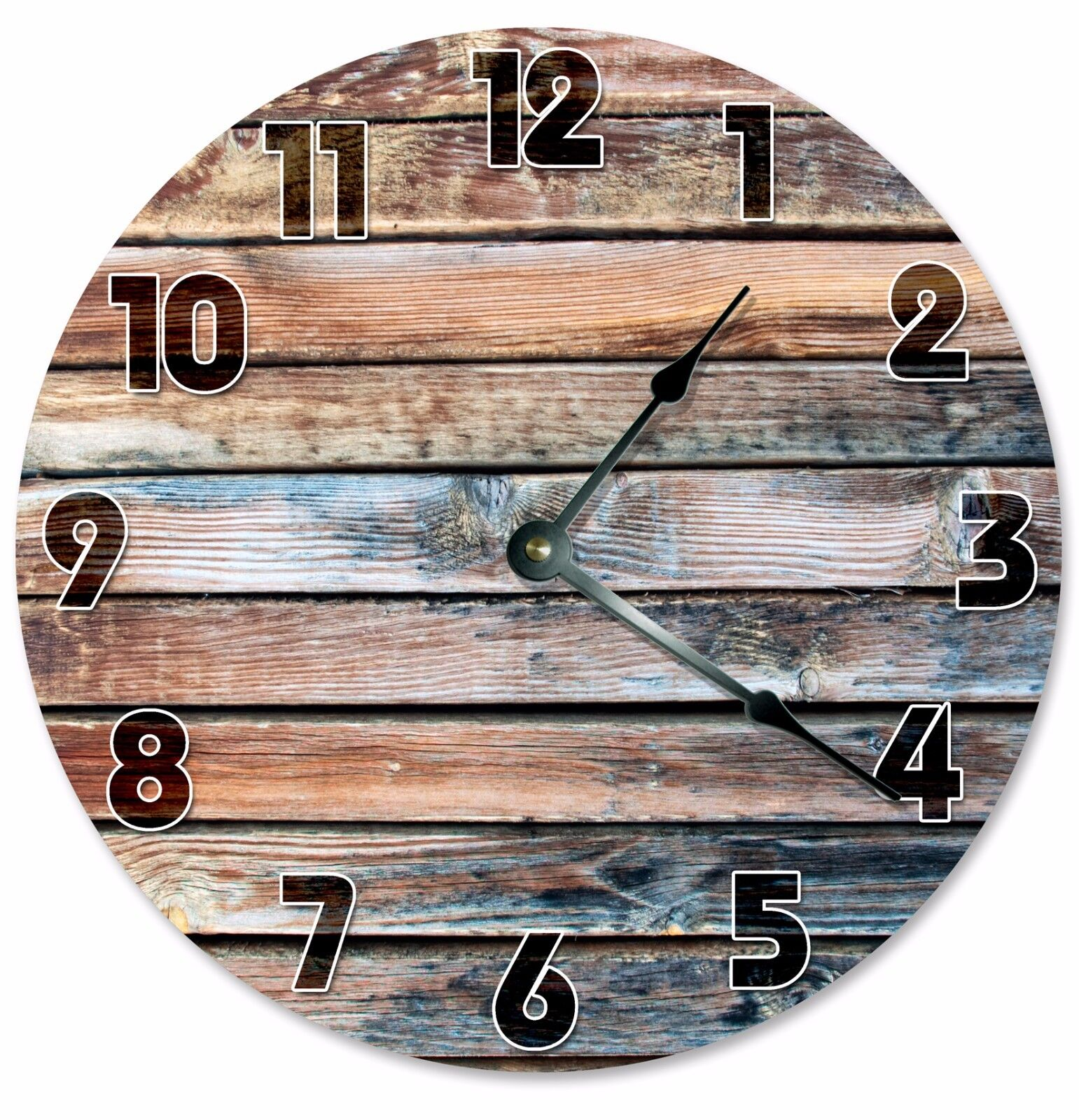 "OLD BARN WOOD Clock - Large 10.5"" Wall Clock - 2117"
