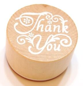 Thank You Wooden Handwriting Rubber Round Stamp Brand NEW! GOOD Quality!! Gift!