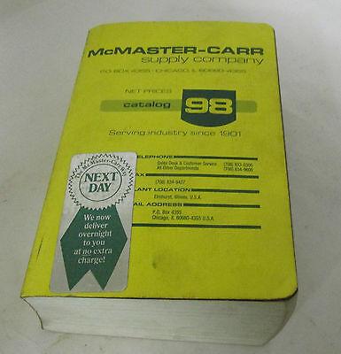 Mcmaster Carr Supply Company Catalog 98 1992