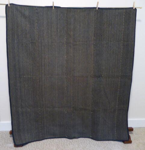 Vtg Japanese Rug or Bed Cover, Sashiko Stitching