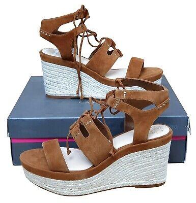 VINCE CAMUTO Katila Ladies Brown Strappy Platform Wedge Sandals EU40 UK 7...