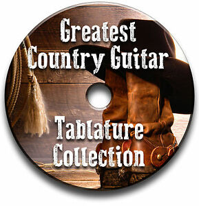 greatest country guitar tabs collection tablature song book software cd ebay. Black Bedroom Furniture Sets. Home Design Ideas