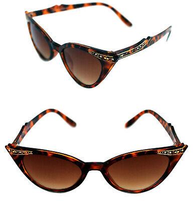Cat Eye Sonnenbrille leo braun Rockabilly 50er Jahre braun getönt 310