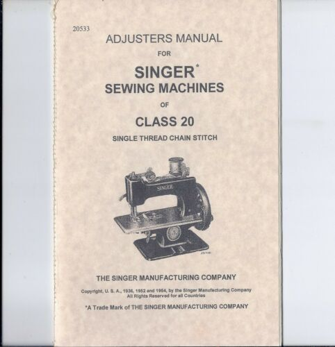 1954 Singer Model 20 manual --- a copy with a stitched binding