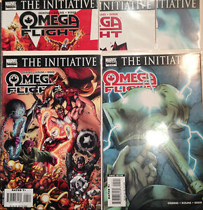 omaga-FLIGHT-1-5-Juego-Initiative-VF-nm-1-DIBUJO-Marvel-Comics