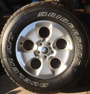 JEEP WRANGLER TIRES AND RIMS - NEW CONDITION