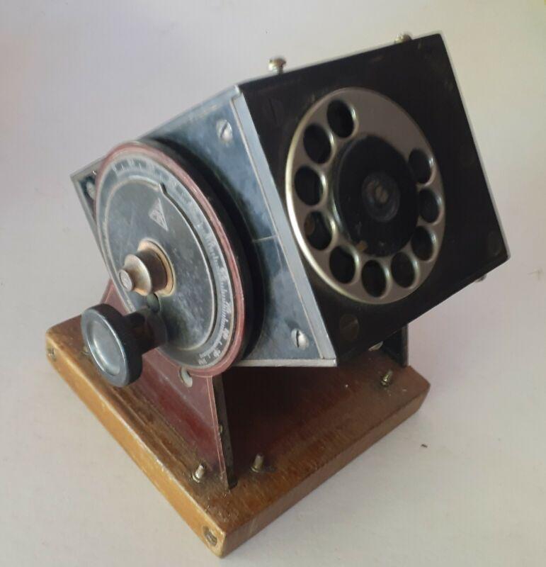 UNIQUE Antique Telephone Dial desktop adjustable Remote Box Bakelite -- MYSTERY