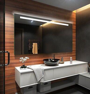 Lichtspiegel LED Badspiegel Beleuchtung Batterien Versorgt