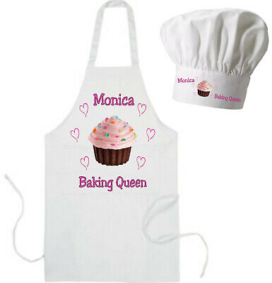 Personalised Cup Cake Apron Gift in Adult & Children's sizes + Chef Hat option