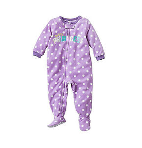 Carter's Fleece Blanket Sleeper Footed Pajamas 3 6 9 12 18 24 Mos 2T 3T 4T 5T