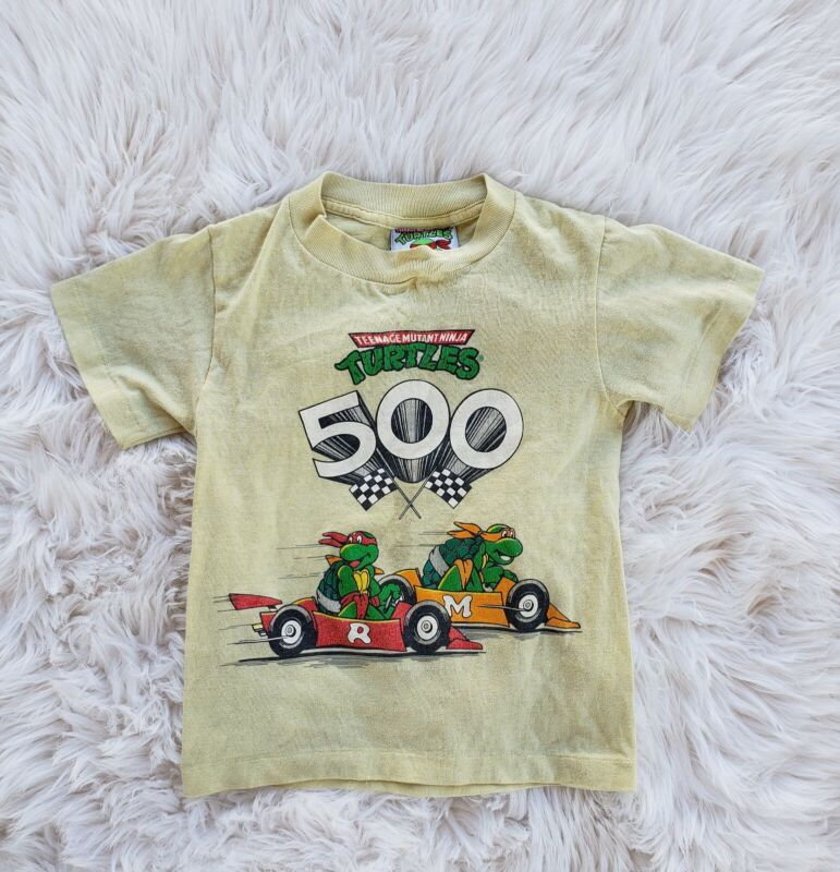 Vintage Kid Toddler Tennage Mutant Ninja Turtles Shirt 90s