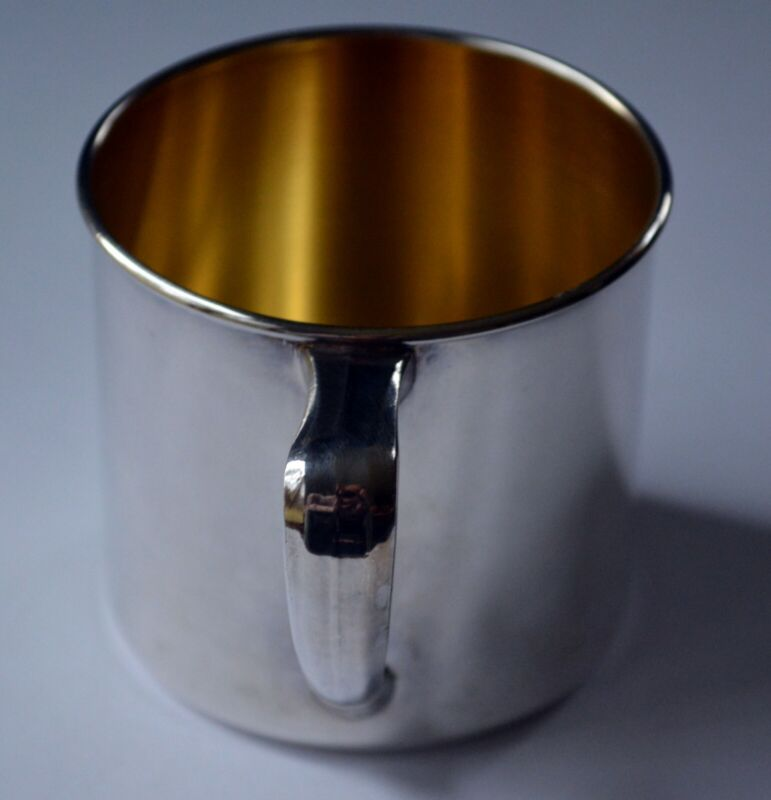 Vintage Community Silver-plate: Unengraved Baby Cup in Original Packaging