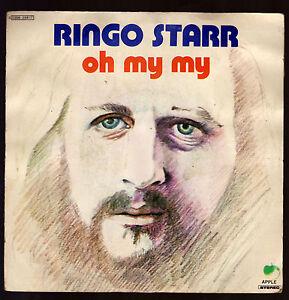 RINGO-STARR-DISCO-45-GIRI-OH-MY-MY-B-W-STEP-LIGHTLY-APPLE-THE-BEATLES