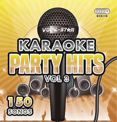 VOCAL-STAR PARTY HITS 3 KARAOKE CDG CD+G DISC SET 150 SONGS