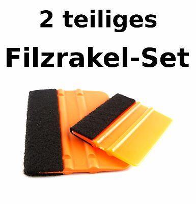 2er Filzrakel-Set Wandtattoo Folienrakel Verkleberakel Car Wrapping Montagerakel Rakel
