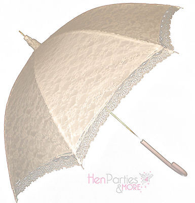 VICTORIAN IVORY LACE WEDDING BRIDE PARASOL OR UMBRELLA