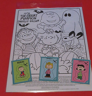 Peanuts Coloring Pages (2016 McDONALDS CANADA PEANUTS SNOOPY HALOWEEN PUMKINS COLORING PAGE STICKER)