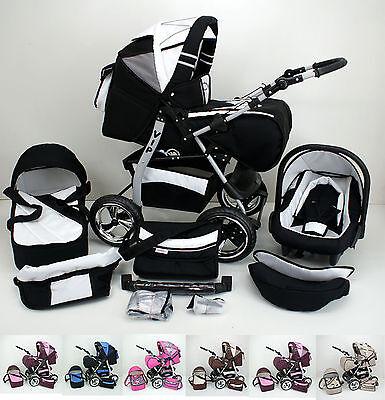 Kombi-Kinderwagen VIP + Babyschale + Extras
