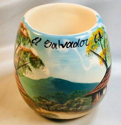 el salvador hand painted cup mug