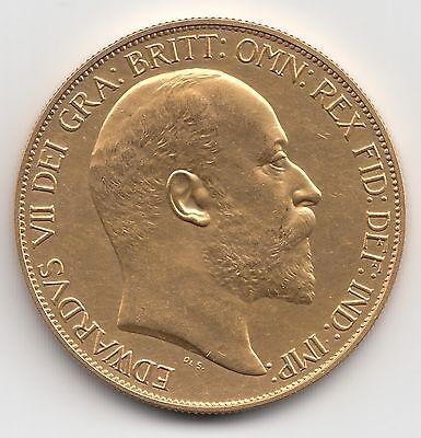 RARE 1902 KING EDWARD VII MATT PROOF GOLD FIVE POUND £5 COIN