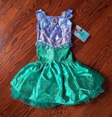 NWT New Disney Little Mermaid Ariel Halloween Costume Girls' XS 3T-4T DRESS ONLY